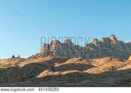 Spitzkoppe, Namibia - June 17, 2012: View Of The Pondok Mountains As Seen From The Greater Rock Arch
