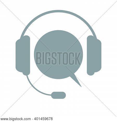 Support Icon. Concept Of Consultation. Consultant. Secretary. Idea Hotline Support Service With Head