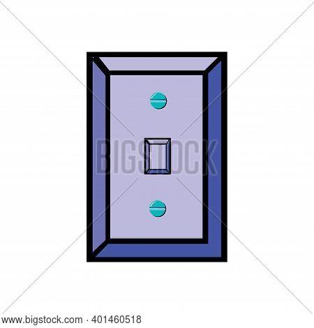 Vector Illustration Of White Socket Isolated On A White Background In Eps10