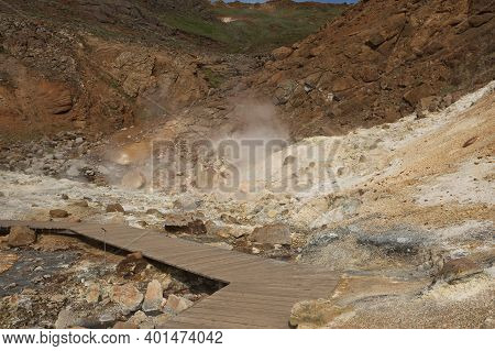 Seltun Geothermal Area In Krysuvik, Reykjanes Peninsula, Iceland