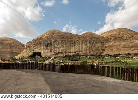 The Mount Of Temptations Of Jesus On The Left And Around Jericho, Israel, Palestinian Authority