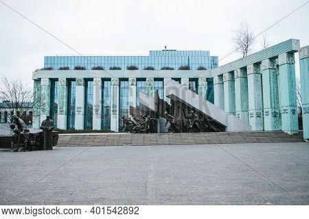 Poland, Warsaw, 02 January 2021: Monument To The Warsaw Rising Dedicated To Warsaw Uprising In 1944