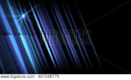 Abstract Blue Light With Rays And Lens Flare.modern Abstract Beautiful Rays Light Streak Background