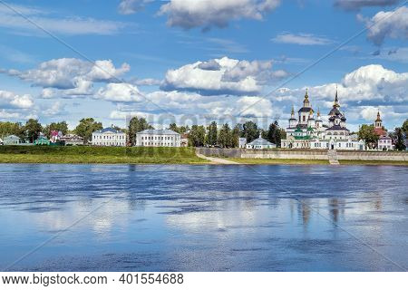 View Of Historical Centre Of The Veliky Ustyug From Sukhona River, Russia