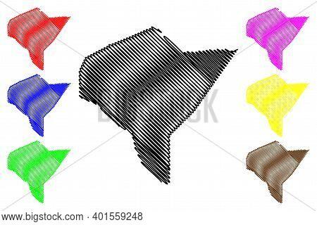 Mandera County (republic Of Kenya, North Eastern Province) Map Vector Illustration, Scribble Sketch