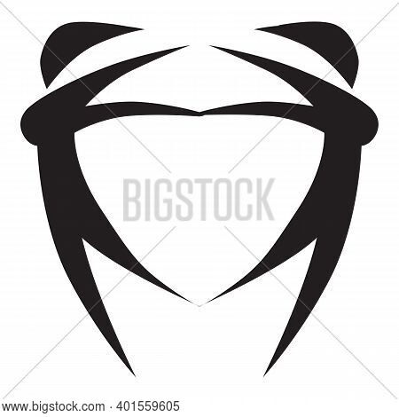 Theatre Mask Icon Silhouette. Theater Drama Comedy Icon, Actor Acting Logo