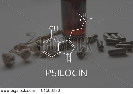 Psilocin Formula. Legalization Medical Psychedelic. Medical Psilocybin And Psilocin On The Health Of