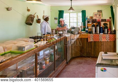 Solitaire, Namibia - June 22, 2012: Inside The Bakery In Solitaire. People Are Visible