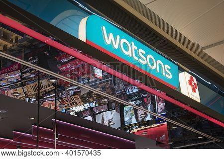 Singapore - Dec 31, 20120: Watsons Store Located Inside The Jewal Changi Airport In Singapore. Watso