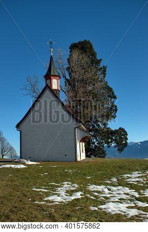 Pretty Little Chapel On A Hill In Gais In Switzerland 18.12.2020