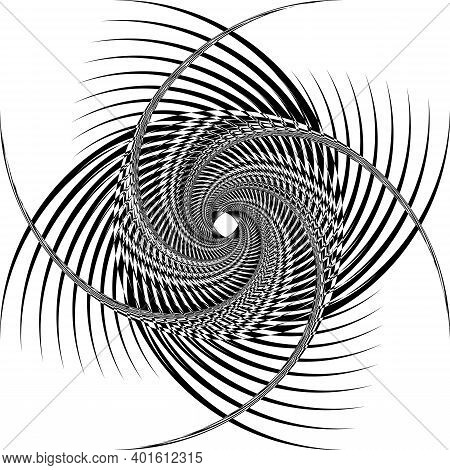 Arabesque Background Structural Swirling Element From Inside Black On Transparent Background