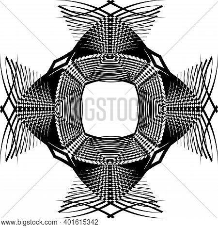 Arabesque Background Structural Pagoda Element From Above Black On Transparent Background