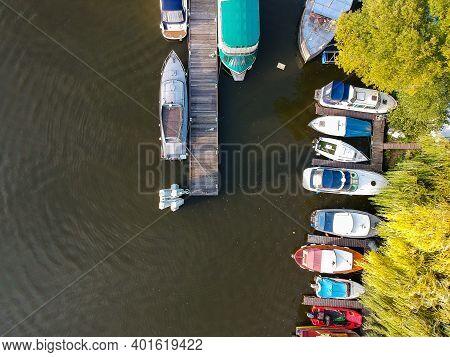 Aerial View In Marina Of Island Cisarska Louka - Imperial Meadow In Prague