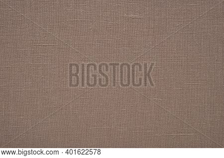 Brown Unbleached Linen Fabric Material Texture Background