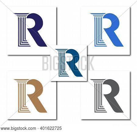 R Law Firm Logo Design Concept Company