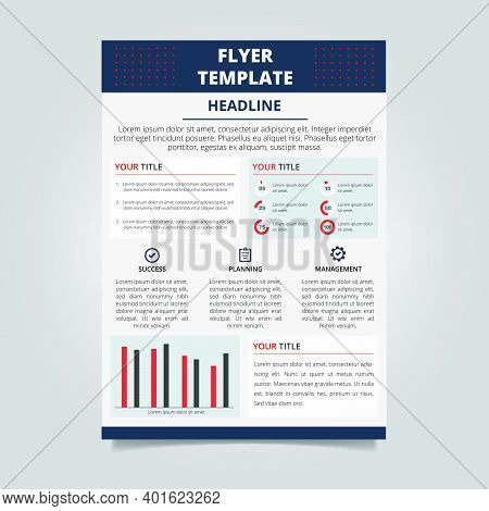 Modern Informational Flyer Template With Infographic Elements