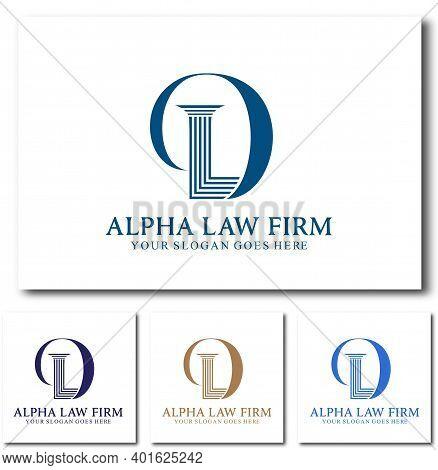 D Law Or Dl Law Firm Logo Design