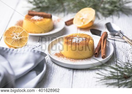 Natilla Colombian Or Spain Cuisine - Christmas Tradition