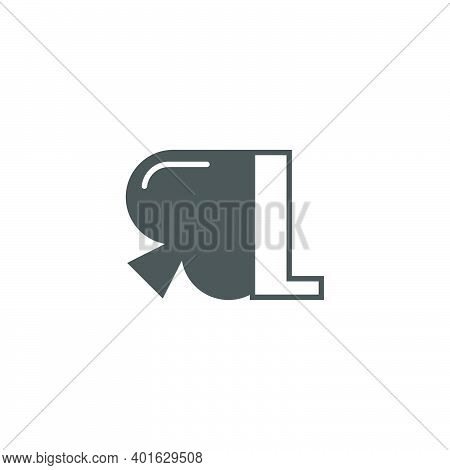 Letter L Logo Combined With Spade Icon Design Vector