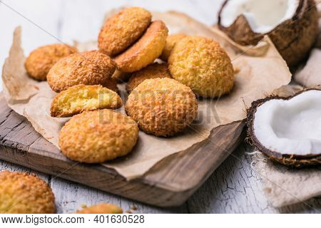 Gluten Free Millet Cookies With Coconut Flakes. Cocosanki - Poland Cookies