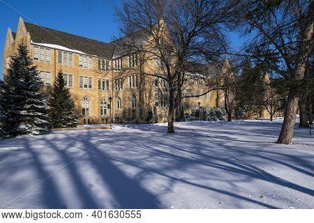 Historic Campus Hall Building At University In Saint Paul Minnesota