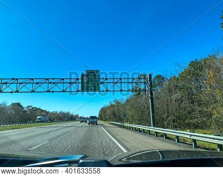 Highway Signs On Interstate 4 Leading To Highway 429 Towards Apopka In Florida.