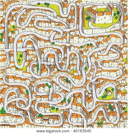 Old Town Maze Game