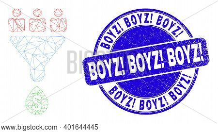 Web Mesh Customers Sales Funnel Pictogram And Boyz Exclamation Boyz Exclamation Boyz Exclamation Sea