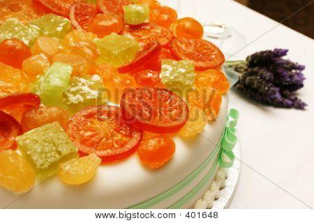 Fruit Decorated Wedding Cake