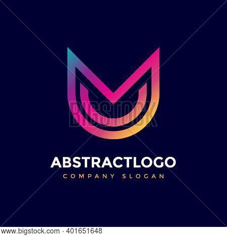 Um Letter Creative Logo Design Vector Template
