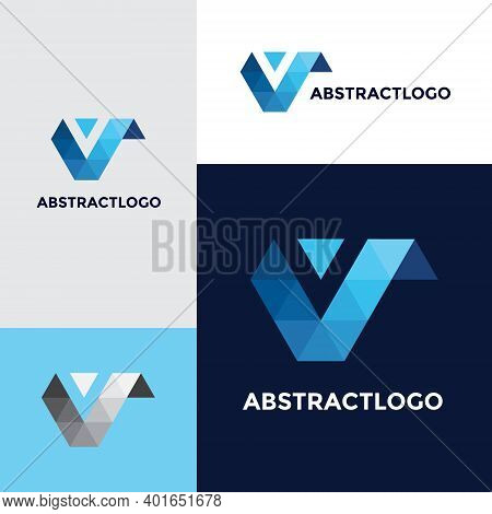 Logo V Initial Letter Design. Creative Font V Template Icon.