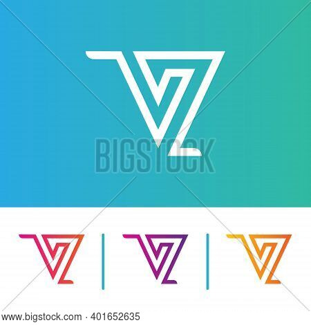 Modern And Unique Colorful V Letter Logo Icon Vector Template Elements, Corporate, Shape