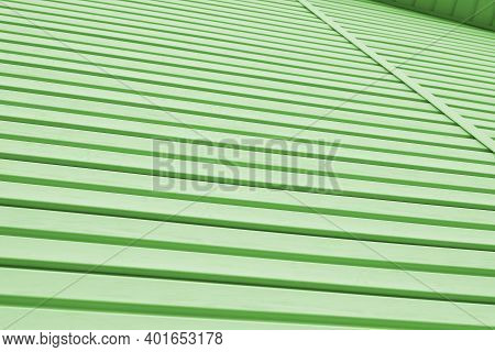 The Striped Surface Of The Plastic Siding And Piece Of Cornice. Construction And Repair Of Buildings
