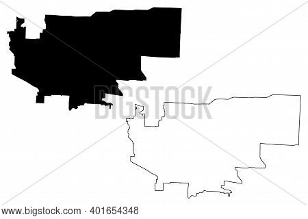 Independence City, Missouri (united States Cities, United States Of America, Usa City) Map Vector Il