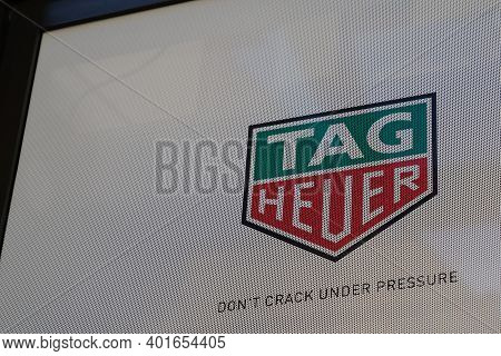 Bordeaux , Aquitaine  France - 12 28 2020 : Tag Heuer Watches Shop Logo And Sign Text Of Swiss Luxur