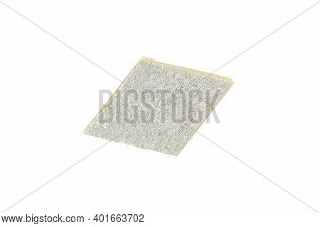 Top View Of Kaju Katli Mithai Isolated On White Background With Clipping Path