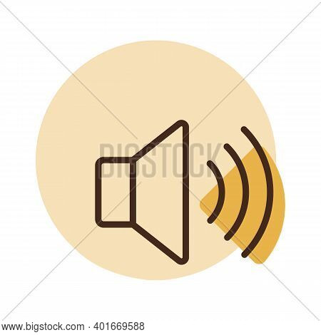 Max Volume High Vector Flat Icon. Graph Symbol For Music And Sound Web Site And Apps Design, Logo, A