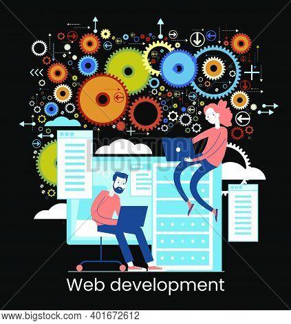Website Architecture Concept. Php And Mysql. Cms Content Management System. Web Development. Softwar