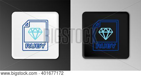 Line Ruby File Document. Download Ruby Button Icon Isolated On Grey Background. Ruby File Symbol. Co