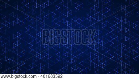 Abstract Technology Blue Hexagonal Artwork Of Pattern Style Template. Overlapping Design With Geomet