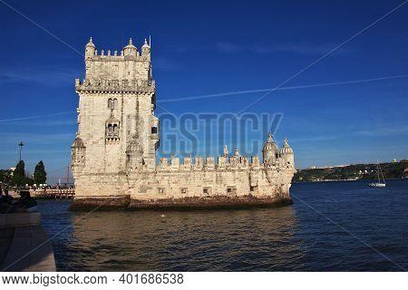 Belem, Lisbon, Portugal - 10 May 2015: Santa Maria De Belem - The Tower Of Belem, Portugal