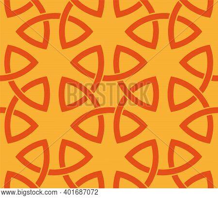 Interlocking Circles Seamless Pattern . Abstract  Textile Print. Vector Illustration.