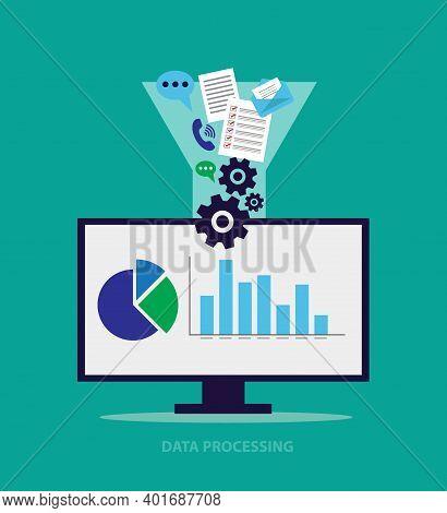 Data Processing Conceptual Template, Data Optimization, Data Processing, Graph And Diagram, Data Ana