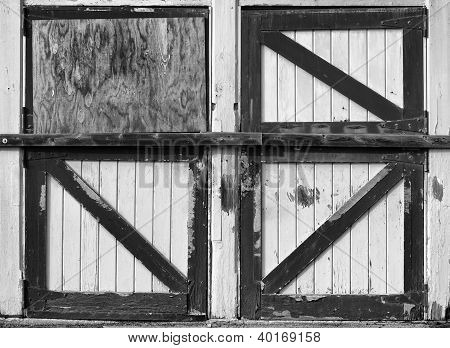 Old Stable Doors, Black and White