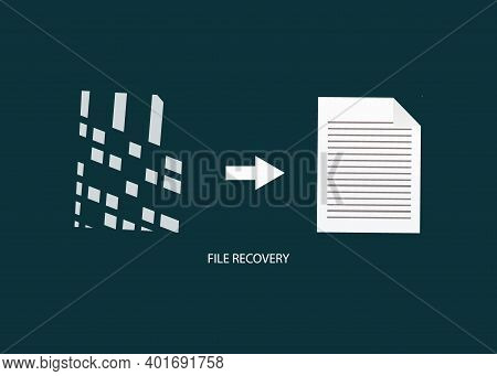 File Recovery Symbol, Data Recovery Icon Vector Illustration