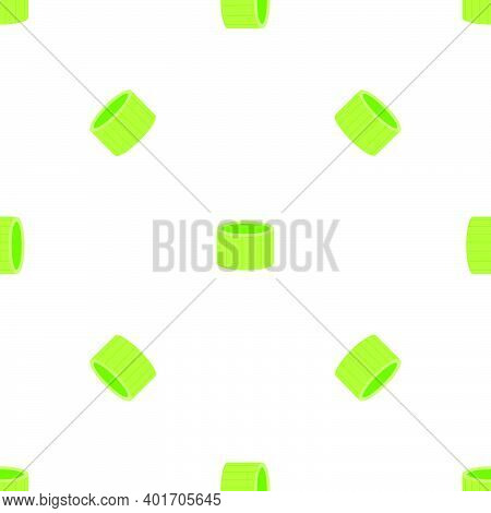 Illustration On Theme Of Bright Pattern Green Onion, Vegetable Root For Seal. Vegetable Pattern Cons