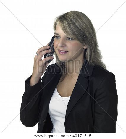 Business Girl On The Mobile Phone