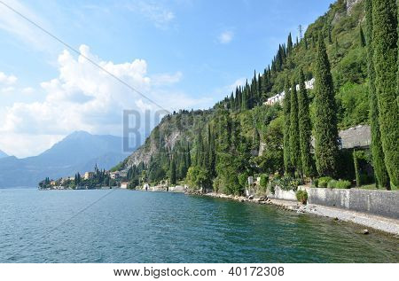 Lake Como from villa Monastero. Italy