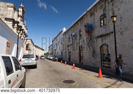 Santo Domingo,  Dominican Republic - January 11, 2017: Street View Of Santo Domingo Downtown. Ordina