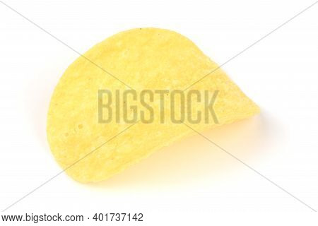 Delicious Potato Chips, Isolated On White Background. High Resolution Photo. Full Depth Of Field.